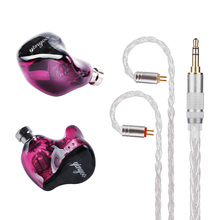 Yinyoo 8BA Drive Unit In Ear Earphone 8 Balanced Armature Detachable Detach MMCX Cable HIFI Monitoring