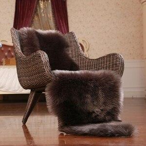 Высокое качество, имитация шерсти, коврики для дома, Меховые чехлы для стула, для спальни, искусственный коврик, коврик для сиденья, гладкий ...