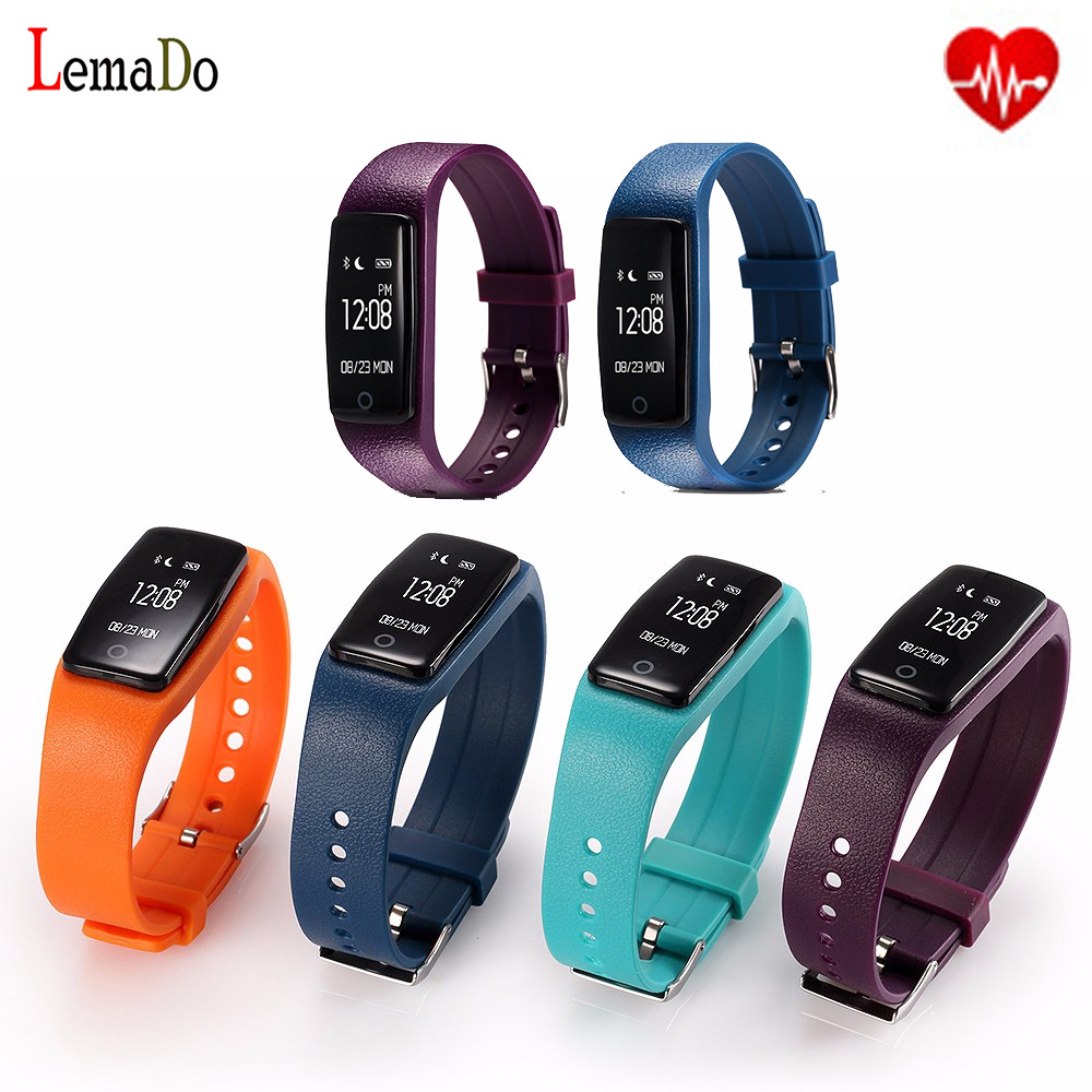 New Lemado S1 smart band Heart Rate Monitor Smartband Fitness Tracker Pedometer whatsapp facebook Wristband For