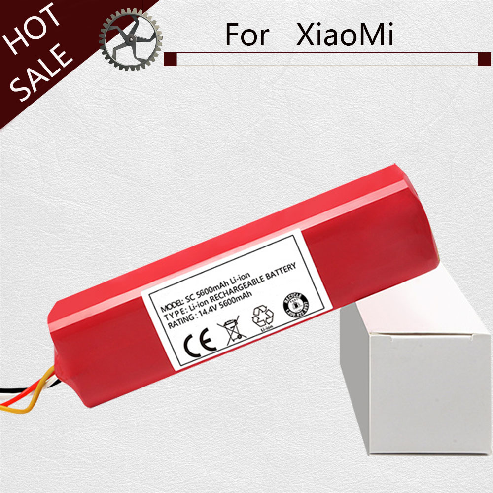5600mAh Battery For Xiaomi Mi Robot Vacuum Cleaner Parts For Xiaomi Accessories Roborock S50 S51