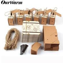 OurWarm 10/20 قطعة حقيبة الحلوى صناديق السفر الكلاسيكية موضوع أنيق نمط هدية صندوق الزفاف عيد ميلاد الذكرى لصالح صناديق