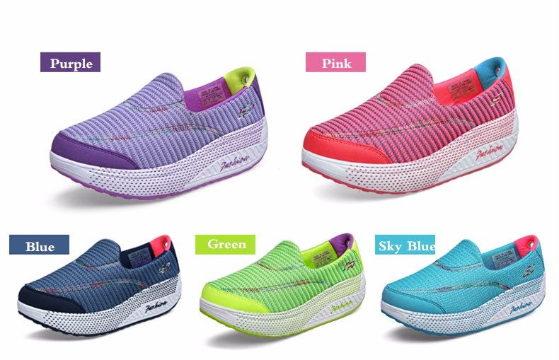 KUYUPP 2016 Autumn Platform Wedges Women Casual Shoes zapatos mujer Sport Breathable Low Top Trainers Flat Platform Shoes YD110 (5)