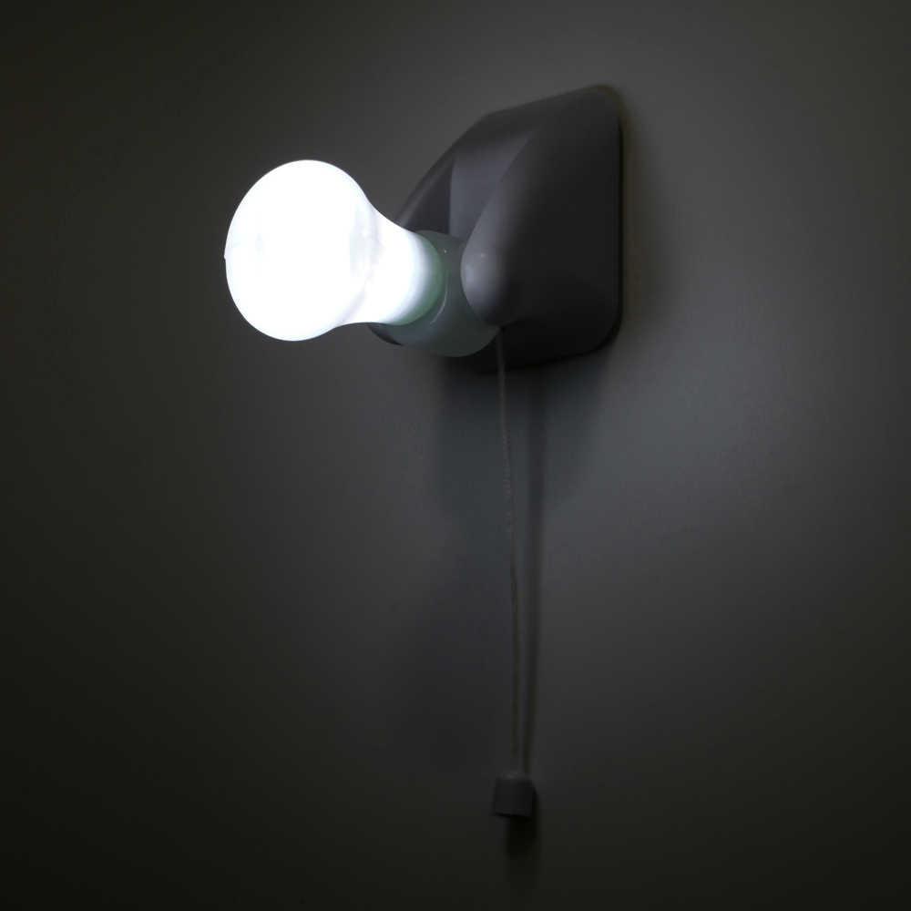 Ночной светильник с проводным выключателем, настенный светильник для шкафа, светодиодный светильник для спальни, коридора, туалета, на батарейках, аварийный светильник