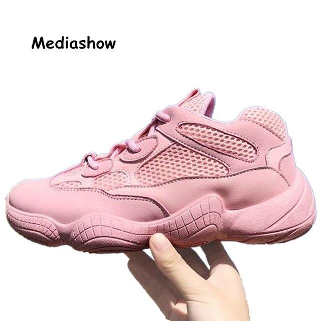 417170998 2018 Primavera New Designer Cunhas Plataforma Rosa Vulcanize Sapatos Tenis  Feminino Sapatos Femininos Sapatos Casuais Das