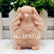 New Product!!1pcs 3D Chicken with Eyes Closed(zx198) Food Grade Silicone Handmade Soap Mold Crafts DIY Mould