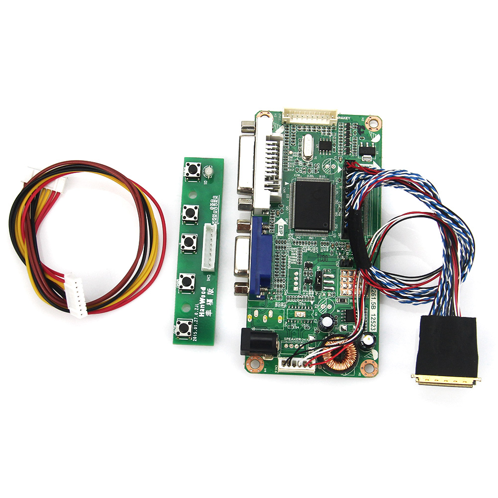 For B156XW02 LTN156AT02 (VGA+DVI) M.RT2261 LCD/LED Controller Driver Board LVDS Monitor Reuse Laptop 1366x768 lcd led controller driver board for b156xw02 ltn156at02 t vst59 03 tv hdmi vga cvbs usb lvds reuse laptop 1366x768