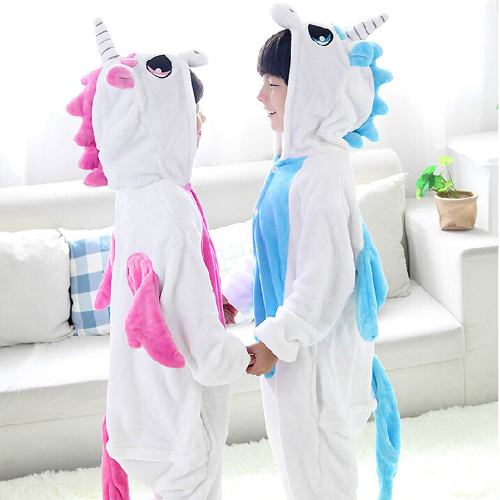 Children Pajamas Unicorn Winter Pajama Unicornio Sleeper Cartoon One Piece Kids Sleepwear Licorne Warm Clothing