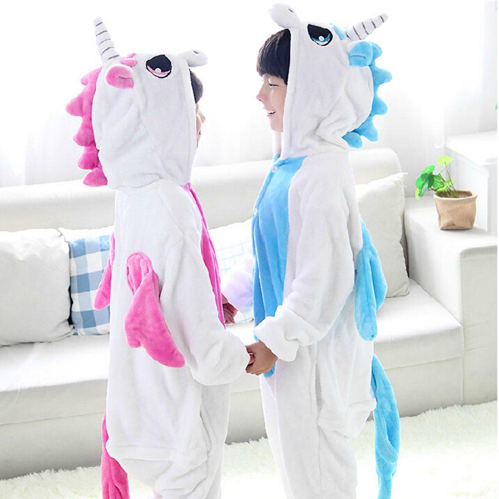 Enfants Pyjamas Licorne Hiver Pyjama Unicornio Bande Dessinée Lit D'une Seule Pièce Enfants Nuit Licorne Chaud Vêtements