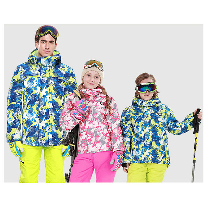 35 Children Girls or Boys Snow Suit outdoor sports snowboarding wear Windproof Waterproof Breathable Thermal Snow jacket + pant