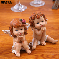Resin Crafts Little angel statue Creative wedding decoration birthday gift Lovely Cupid ornaments Living room home decorations