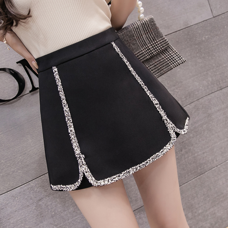 2019 New Women Lacework   Shorts   Skirts Female Fashion High Waist   Shorts   Black/White Casual Summer   Shorts   Woman Elegant Culottes