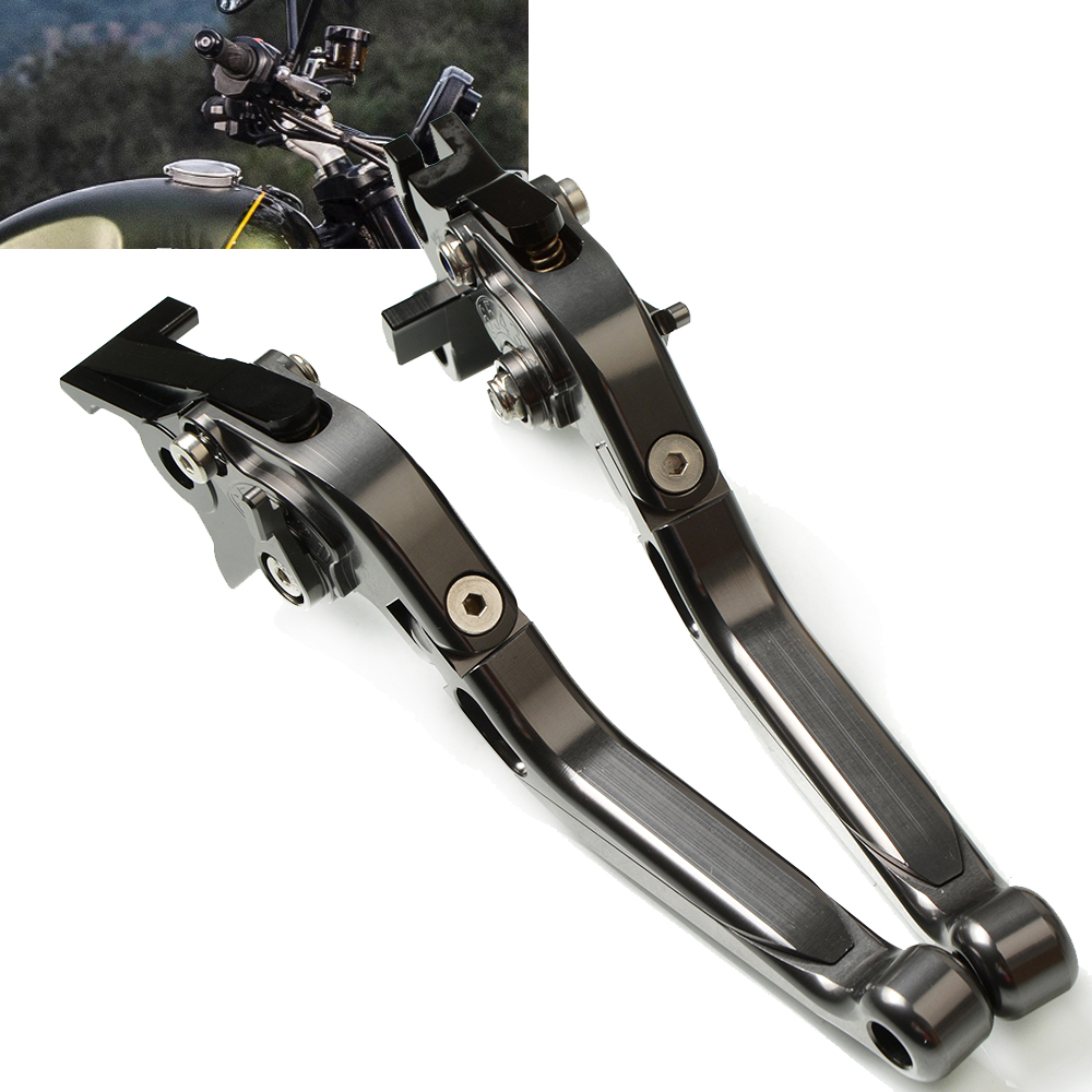Image 1 - Motorcycle Adjustable Extendable Levers handle folding handbrake Brake Clutch Levers For TRIUMRH SCAMBLER 1200 XC 2019 2020-in Levers, Ropes & Cables from Automobiles & Motorcycles