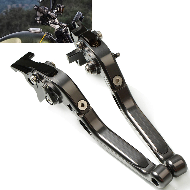 Motorrad Einstellbare Erweiterbar Hebel griff folding handbremse Bremse Kupplung Hebel Für TRIUMRH SCAMBLER 1200 XC 2019 2020