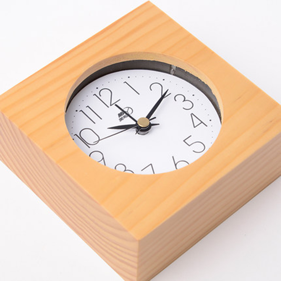 Kids Creative Bell Alarm Clock Wood Luminous Table Desk Electronic Bedside Clock Wooden Mechanical Alarm Wekker Timer 50A0149
