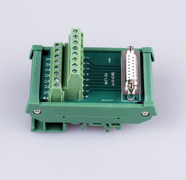 1PCS YT382 Male female optional DB15 interface  Terminal board  Connection module  Relay terminal panel    Repeaters