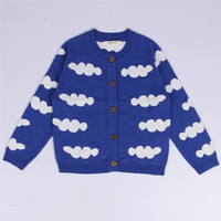 1 5Y Baby Costume BOBO Choses Knitted Sweaters Cloud Horse Triangle Pattern Jumper For Boys Girls
