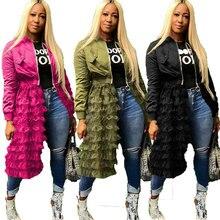 Plus Size Green Bomber Jacket Women Autumn Winter Streetwear