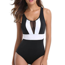 Ladies Beach Bodysuit Women's Swimsuits Sexy Open Back Large Size Swimsuit Charming Bather Swimwears Classical Summer Biquini