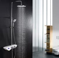 Цифровой термостатический комплект белый ванная комната Ванна смеситель для ванны душ стену кран для ванной набор термостатический компле