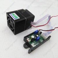 Alta Qualidade 532nm 300 mW Módulo Verde Do Laser de Iluminação de Palco Acessório DC/AC12V Input com Modulação TTL