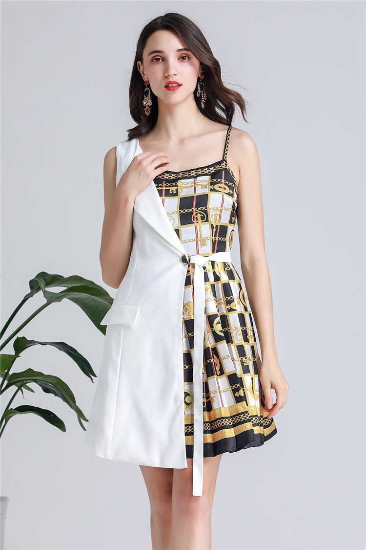 Truevoker Европейский дизайнер Сексуальные вечерние Клубные платья женские высокие уличные на одно плечо стильные золотые Печатные Нерегулярные Vestidoes