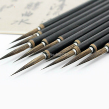 Brush-Pen Oil-Painting-Brush Art-Stationary Chinese-Calligraphy Hook-Line Copper-Head