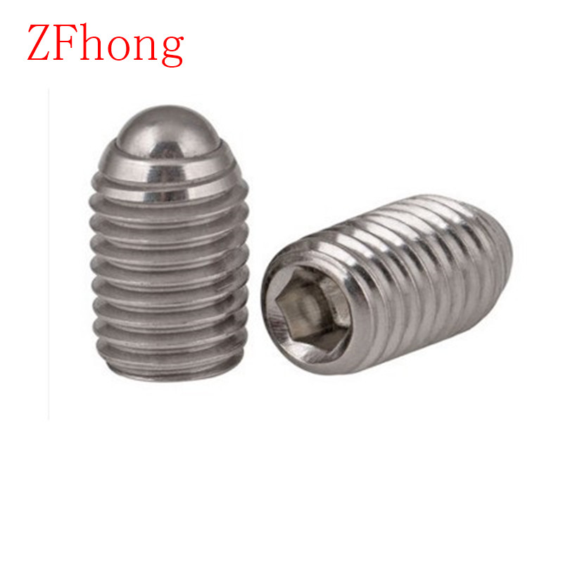 20PCS M3 M4 M5 Hex Socket Spring Ball Plunger Set Screw length 6mm to 20mm 20pcs m6 25 stainless steel hex socket spring ball plunger set screws