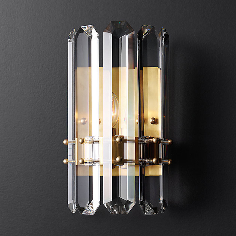Luxury American Post Modern Led Wall Lamp Lustre K9 Crystal Led Wall Light Living Room Luminarias Sconce Bedroom Lamparas Lamp modern high quality k9 crystal wall lamp arandela for home bedroom living room led wall light european luxury led crystal lamp