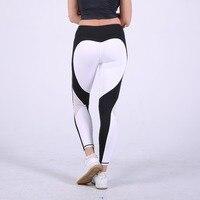 S-QVSIA hart patroon mesh splice legging harajuku athleisure fitness kleding sportkleding elastische sporting leggings vrouwen broek