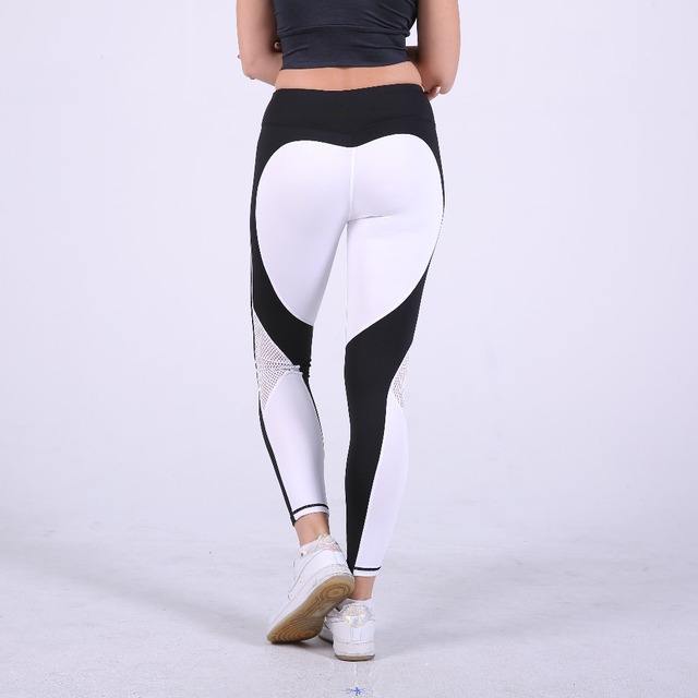 5518781a6d525 S-QVSIA heart pattern mesh splice legging harajuku athleisure fitness  clothing sportswear elastic sporting leggings women pants
