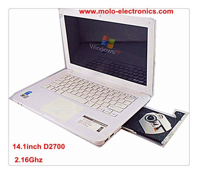 "13.3"" laptop computer with DVD-ROM RW engraver Intel D2500/N2600 notebook WIFI webcam optional for 4GB & 500GB"