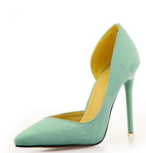 [H][C]2017 Summer Style Lady Pumps  Solid Color Nightclub Thin OL Pointed Super High 11cm Heels Sexy Women  Pumps .PSDS-8915