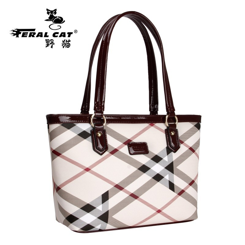FERAL CAT PVC Tote Bag Geometry Plaid Dames Tassen Travel Sac A Main Big Waterproof Shoulder Women Handbags Zipper Bolsos Mujer feral cat ladies hand bags pvc crossbody bags for women single trapeze shoulder bag dames tassen handbag bolso mujer handtassen