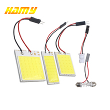 2x Car C5W LED COB Bulb Fstoon Interior Dome Reading Light T10 W5W Auto Luggage Trunk License Plate Lamp Super Bright Whit 12V