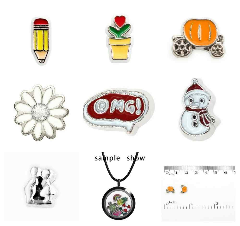 10pcs ดินสอ carriage snowman OMG ลอย living Charms memory charms DIY charms Fit ลอย living Memory locket เช่นเด็กของขวัญ