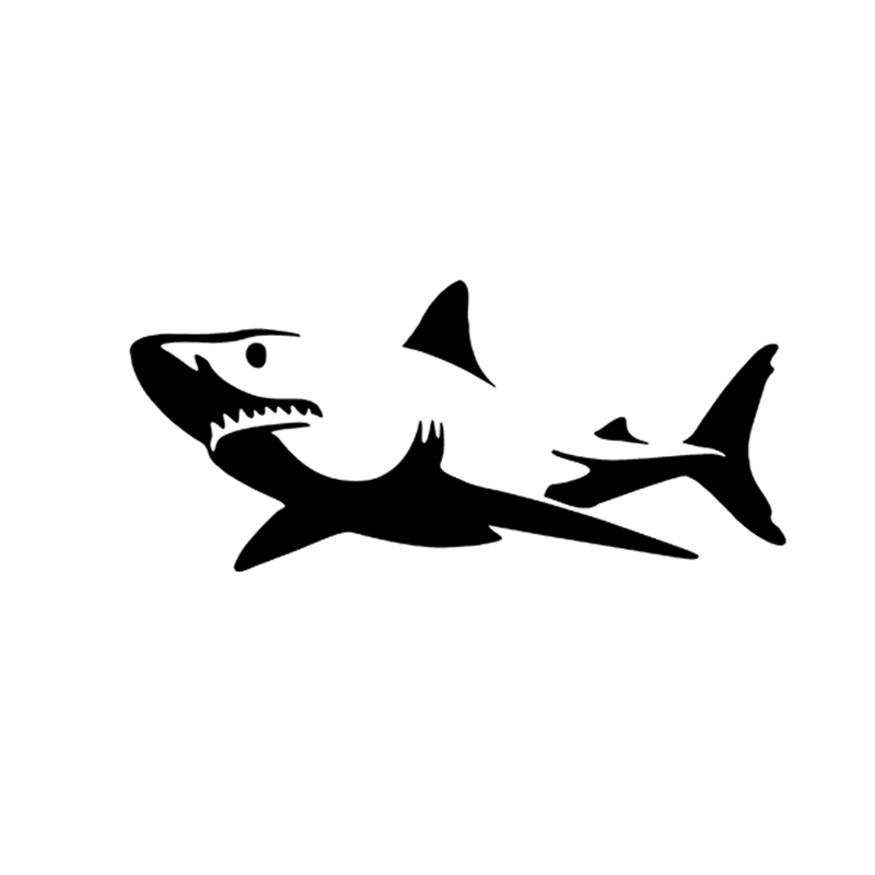 26.7cm x 60cm 2X Novelty White Shark Car Sticker For Cars Side, Truck Window ,Auto SUV Door Kayak Vinyl Decal 8 Colors horse riding sticker for car rear windshield truck suv bumper auto door laptop kayak canoe art wall die cut vinyl decal 8 colors