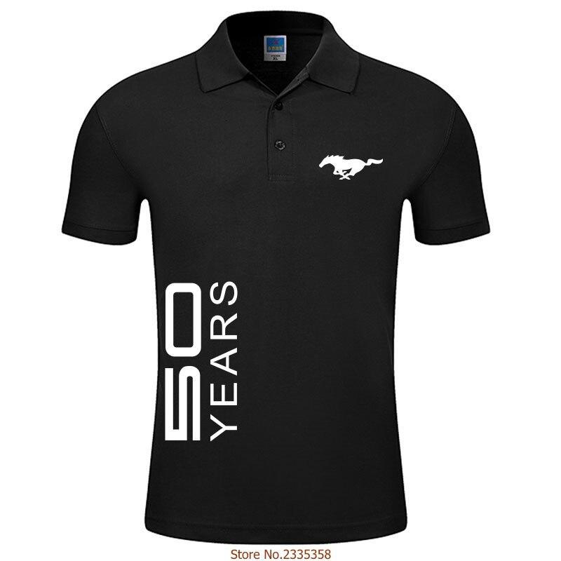 2019 Di Abbigliamento Di Moda I Nuovi Uomini Di Affari & Casual Solido Mustang 50 Anni Di Polo Camicia A Maniche Corte Traspirante Estate Chemise Polo