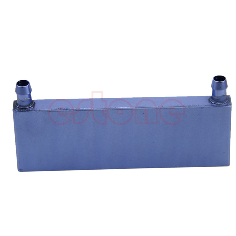 For Computer CPU Water Cooling Block Graphics Radiator Heatsink Aluminum 122mmx41mmx12mm free shipping 5pcs lot 53 53 14mm pure copper water cooling block computer cpu water block server water cooled radiator
