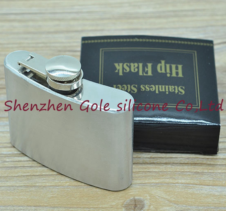 200pcs 4oz Stainless Steel Pocket Flask Russian Hip Flask Male Small Portable Mini Shot  ...