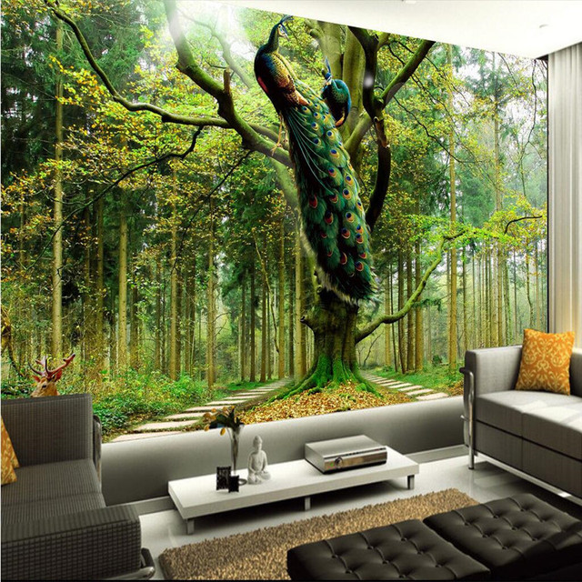 Office backdrops Background Beibehang Home Decor Photo Backdrops Wallpaper For Peacock Tree Deer Office Bathroom Hotel Wall Mural Murals3d Wall Paper Aliexpresscom Beibehang Home Decor Photo Backdrops Wallpaper For Peacock Tree Deer