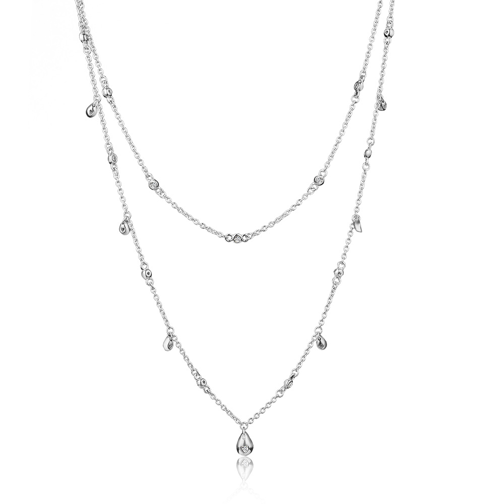 Chandelier Droplets collar Necklace 925 Sterling Silver Chain Pendant Necklaces for Women Original Silver 925 JewelryChandelier Droplets collar Necklace 925 Sterling Silver Chain Pendant Necklaces for Women Original Silver 925 Jewelry
