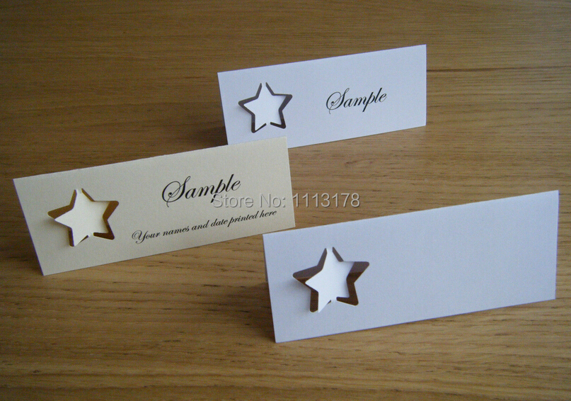 Stars Name place cards table setting Wedding Place Cards, Escort Card, Wedding Escort Cards party Table Number