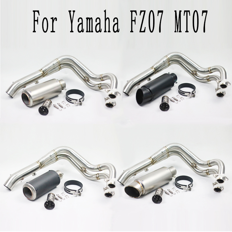 MT 07 FZ 07 Motorcycle Modified Slip On Exhaust Contact Middle Link Pipe For Yamaha MT
