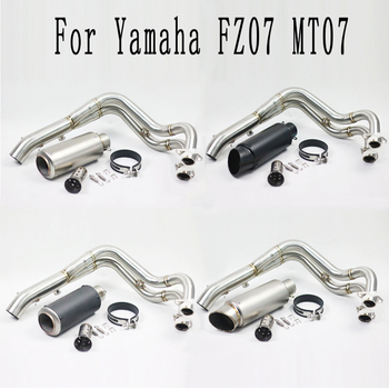 MT 07 FZ 07 Motorcycle Modified Slip On Exhaust Contact Middle Link Pipe For Yamaha MT-07 FZ-07 MT07 2013 2014 2015 2016 2017