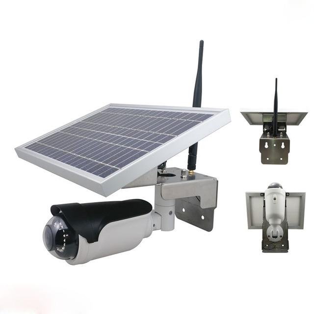 Wireless waterproof battery power ip camera solar camera 1