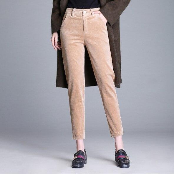 11c048c3f3a plus size warm corduroy pants stripe for women 4xl 5xl 6xl womens autumn  winter striped pencil pants ankle length trouser female