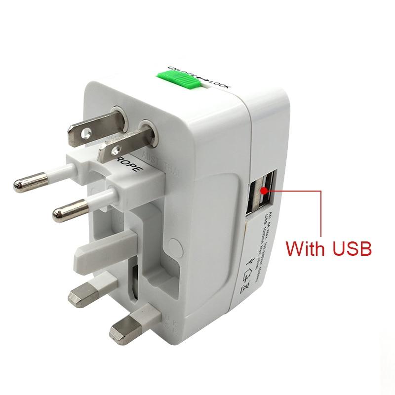 Universal World Charger Adapter Plug All in one Travel AC Power Adapter Converter to US/UK/AU/EU Plug Socket Electrical 2 USB lightning adapter plug socket gsm abroad versatile power converter to convert british standard europ