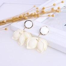 korean statement boho trendy chandelier fashion dangling stud earrings for women Shell jewelry 2019 new