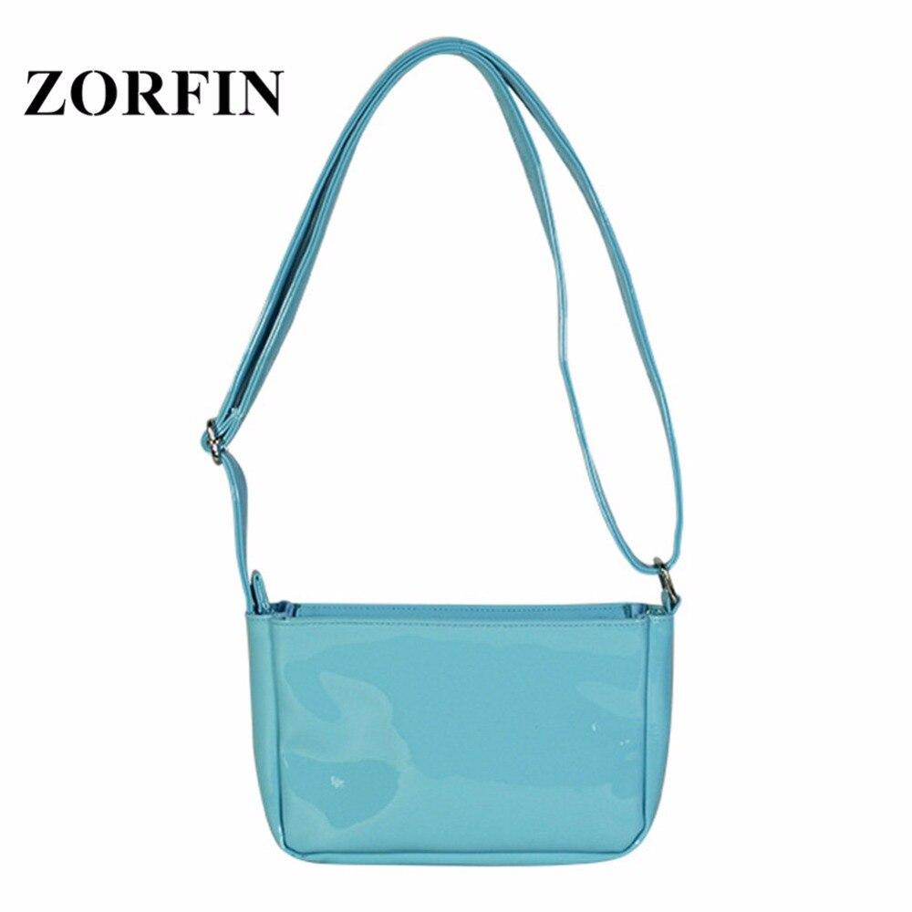 ZORFIN Small Blue Ita Bag Women Clear Bag Transparent