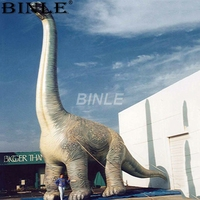 Customizable giant inflatable brachiosaurus dinosaur with long neck large animal balloon for advertising